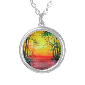 Sunrise Forest Pendant