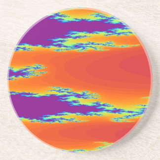 Sunrise Fractal Coasters
