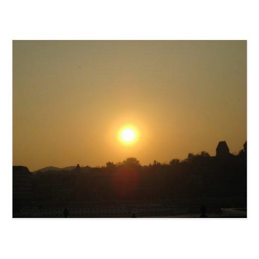 Sunrise from Hot Air Balloon Postcard