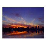 Sunrise From San Diego Bay Post Card
