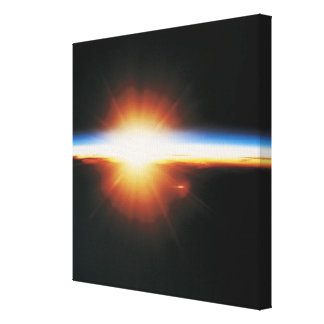Sunrise from Space 2 Stretched Canvas Print