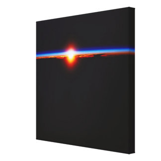Sunrise from Space 3 Gallery Wrapped Canvas
