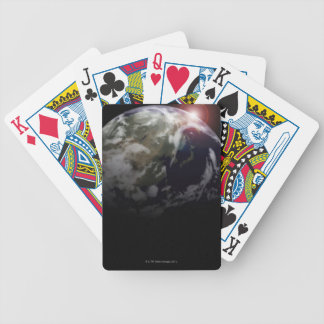 Sunrise from Space Bicycle Playing Cards