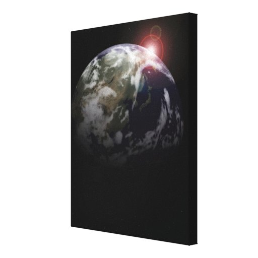 Sunrise from Space Gallery Wrap Canvas