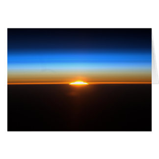 Sunrise From The International Space Station Greeting Card