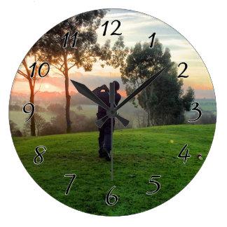 Sunrise Golfer Clocks