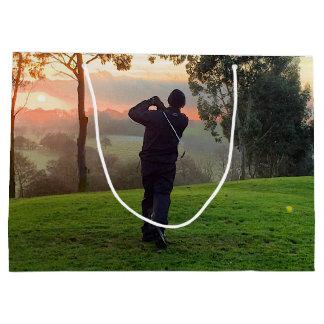 Sunrise Golfer Large Gift Bag
