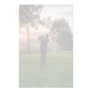 Sunrise Golfer Personalized Stationery