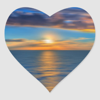Sunrise Heart Sticker