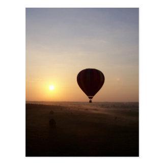 Sunrise Hot Air Balloon photographic image Postcard