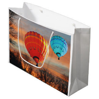 Sunrise Hot Air Balloon Ride Large Gift Bag