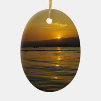 Sunrise in Bali island Christmas Ornament