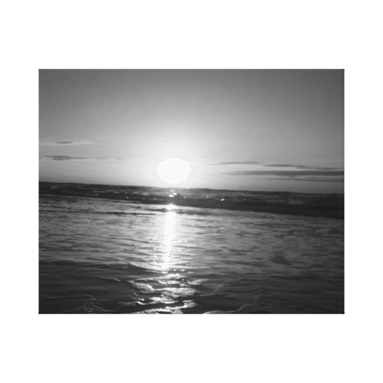 Sunrise in Black & White Canvas Print
