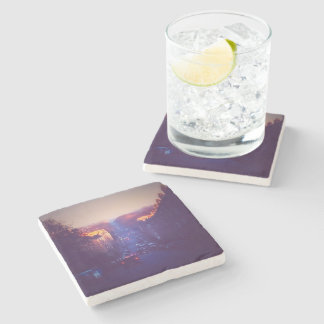 Sunrise In Comely Bank Stone Coaster
