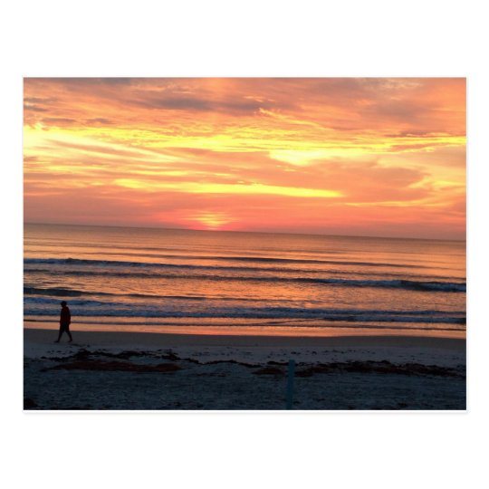 Sunrise in Daytona Beach, FL Postcard