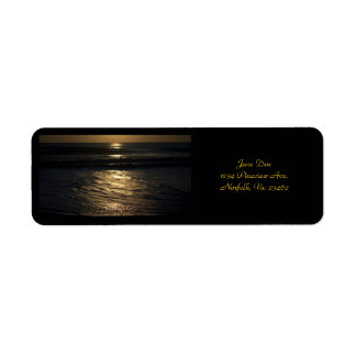 Sunrise In Sepia by Shirley Taylor Return Address Label
