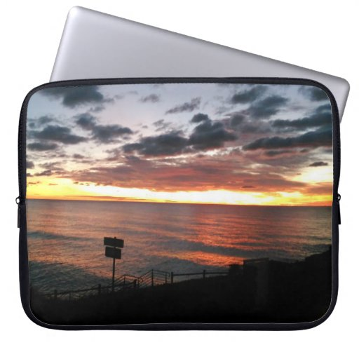 Sunrise in Spain Laptop Sleeve by IreneDesign2011