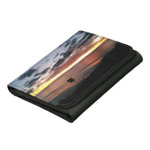 Sunrise in Spain Leather Wallet by IreneDesign2011