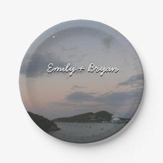 Sunrise in St. Thomas III US Virgin Islands Paper Plate