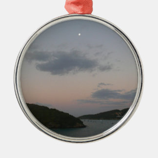 Sunrise in St. Thomas III US Virgin Islands Silver-Colored Round Decoration