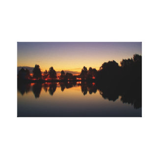 Sunrise in the Cotswold Canvas Print