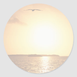 Sunrise in the Everglades Round Stickers