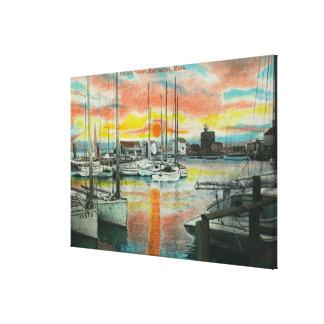 Sunrise in the Harbor Canvas Print