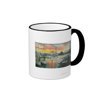 Sunrise in the Harbor Mugs