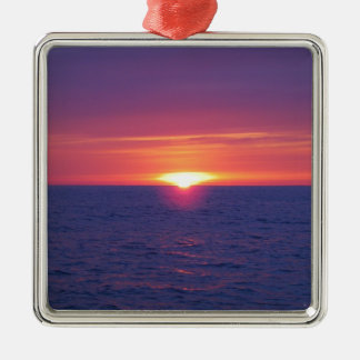 Sunrise In The Med Silver-Colored Square Decoration