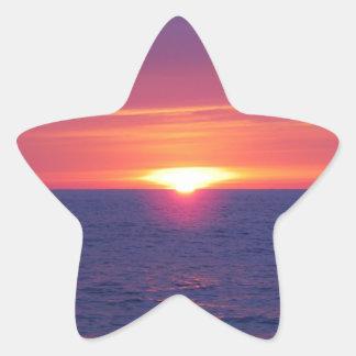 Sunrise In The Med Star Sticker