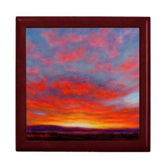 Sunrise in the Mountains of Montana Keepsake Box