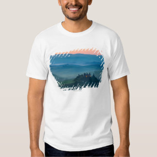 sunrise in the val d?orcia with farmhouse tee shirts