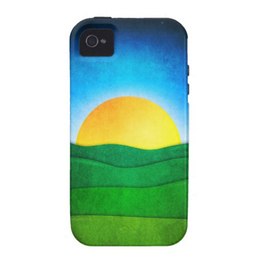 Sunrise In The Valley iPhone 4 Covers