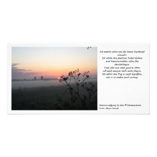 Sunrise in the Wümmewiesen Picture Card