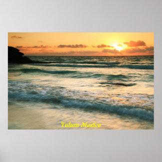 Sunrise in Tulum Mexico Poster