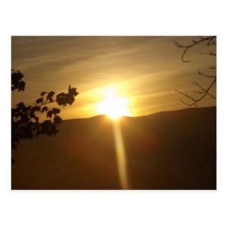 Sunrise in Warren Vermont Postcard
