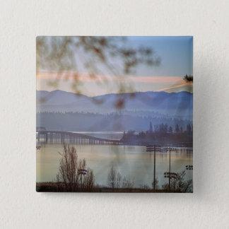 Sunrise in winter in Seattle 15 Cm Square Badge