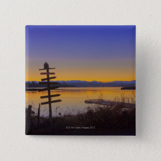 Sunrise in winter in Seattle 2 15 Cm Square Badge