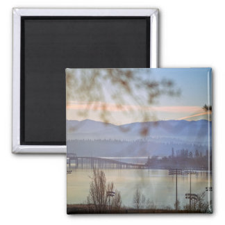 Sunrise in winter in Seattle Magnet