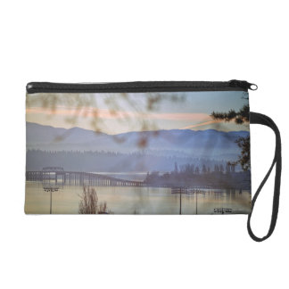 Sunrise in winter in Seattle Wristlet