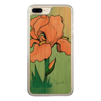 Sunrise Iris Cute Floral Carved iPhone 8 Plus/7 Plus Case