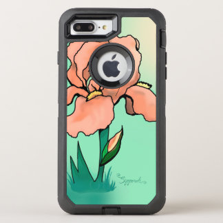 Sunrise Iris Cute Floral OtterBox Defender iPhone 8 Plus/7 Plus Case