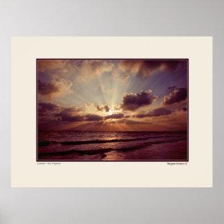 Sunrise - Isla Mujeres - Yucatan - Mexico Poster