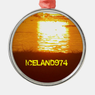SUNRISE - ISLAND OF RÉUNION - INDIAN OCEAN Silver-Colored ROUND DECORATION