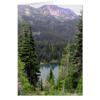 Sunrise Lake, Mount Rainier Note Card