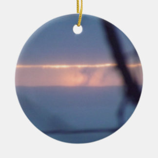sunrise lake superior christmas ornament