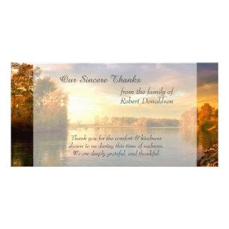 Sunrise Lake Sympathy Thank You Personalized Photo Card