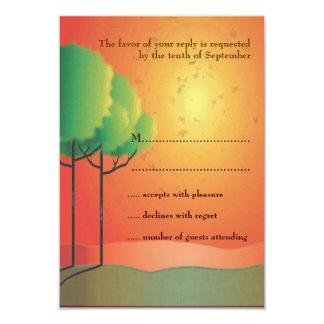 Sunrise Landscape & Trees Response Card 9 Cm X 13 Cm Invitation Card