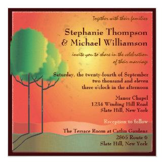 Sunrise Landscape & Trees Wedding Invitation