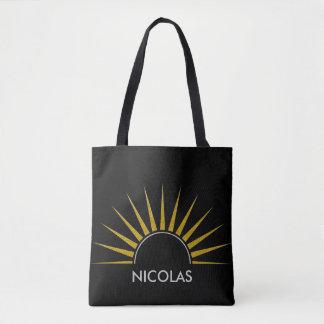 SUNRISE logo gold silver II + your Backgr. & ideas Tote Bag